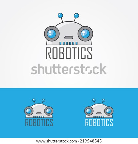 robot logo design element