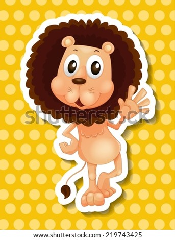 illustration of a close up lion