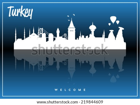turkey skyline silhouette
