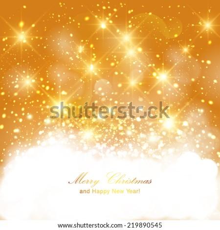 vector golden sparkling