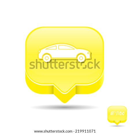 internet web icon on yellow