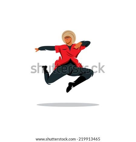lezginka dance vector sign