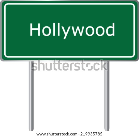 hollywood  florida  road sign