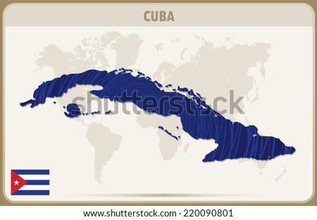 cuba map graphic vector