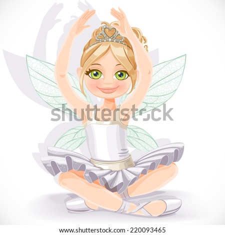 beautiful fairy girl in white