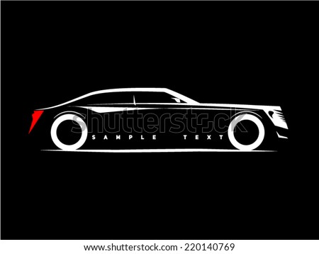 silhouette of a luxury car on a
