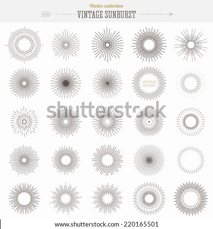 set of vintage sunbusrt