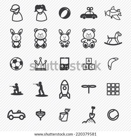 toy icons setillustration eps10