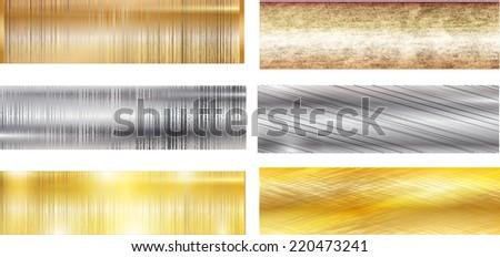 set of metal texture background