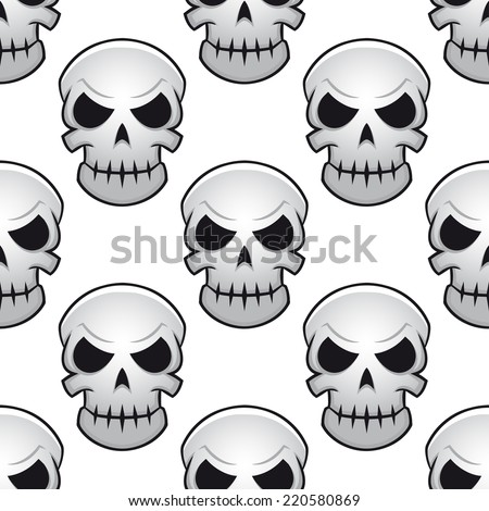 seamless pattern of scary