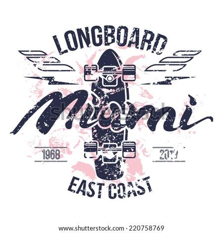 longboard emblem print design