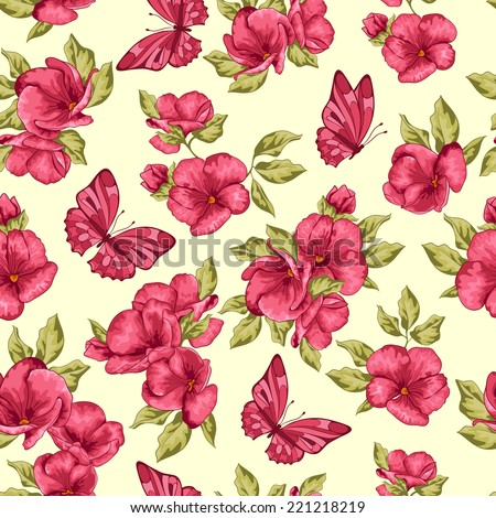 spring floral background with
