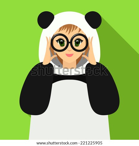 vector illustration of cute