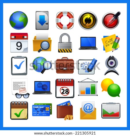 web icons  vector objects