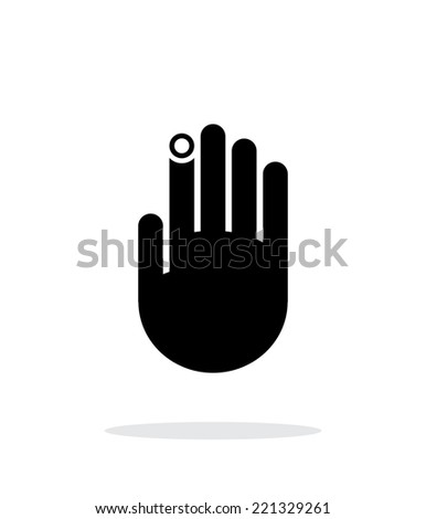 hand finger id icon on white