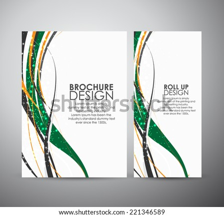 abstract lines vector brochure