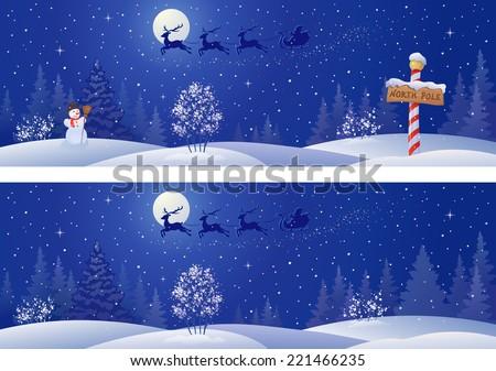 vector illustration of a santa