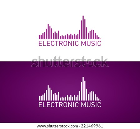 logo template electronic music