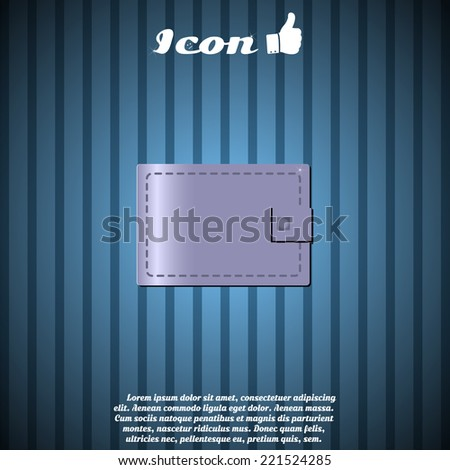 icon on a background of a purse