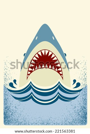 shark jawsvector color