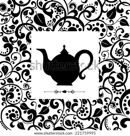 cute tea time card  beautiful