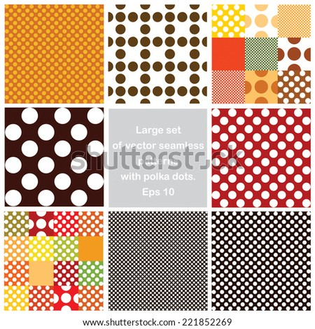 vector seamless set polka dots