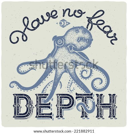 graphic poster with octopus and