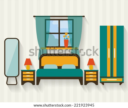 bedroom with furniture and long