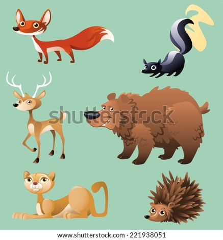 cat  hedgehog  elk  deer  skunk