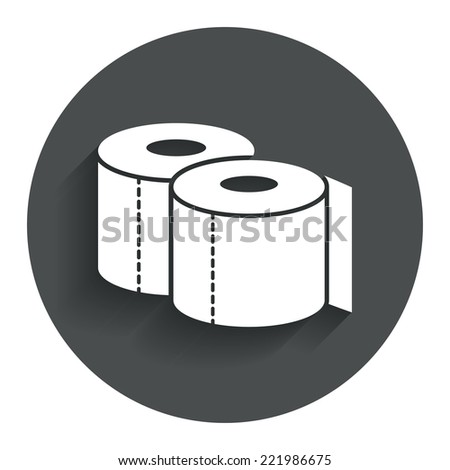 toilet papers sign icon wc