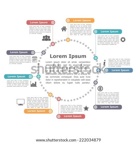 Flow chart infographic design vector free vector download (7,865 ...