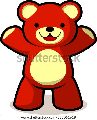 smiling teddy bear vector