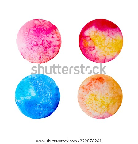 watercolor round samples