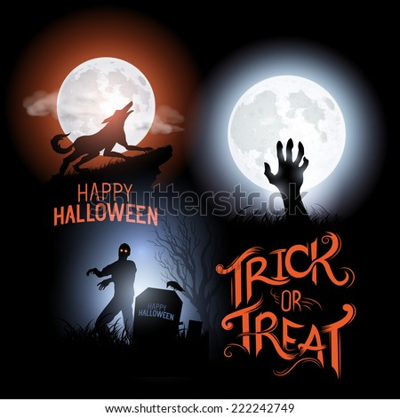 happy halloween elements vector