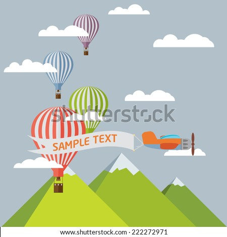 background of hot air balloons