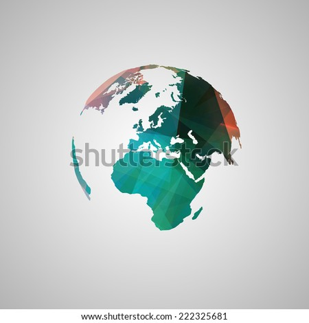 abstract world vector symbol