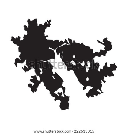 silhouette of the country hong