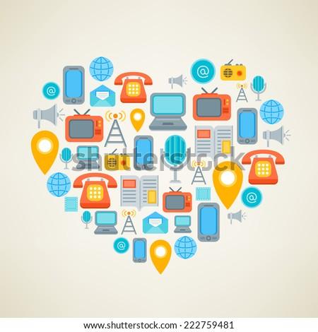 i love social media vector