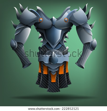 knight's steel armor vector
