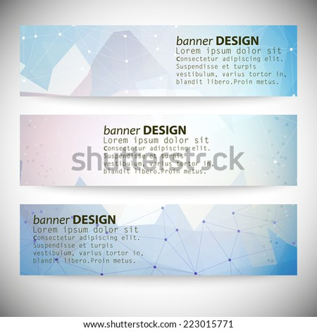 set with polygonal abstract