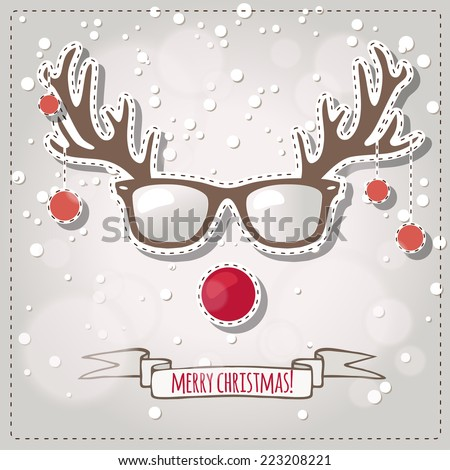 christmas card  hipster style