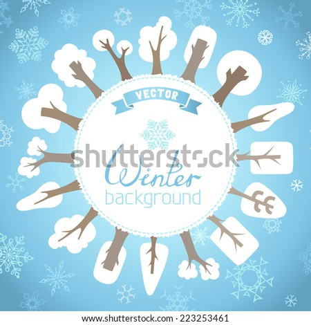 winter vector background