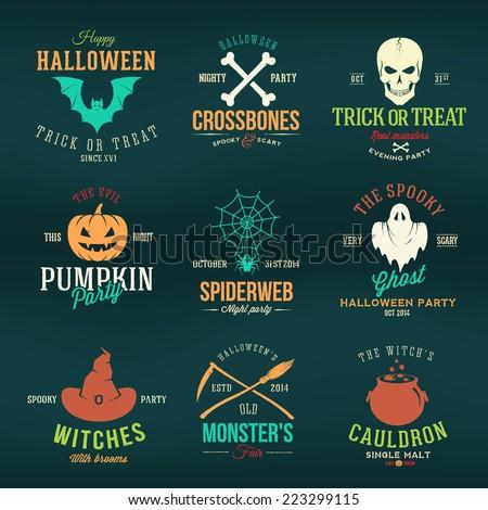 vintage typography halloween