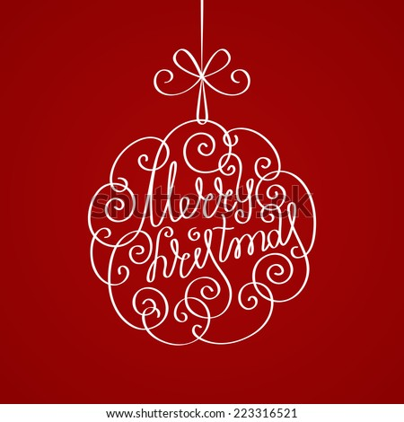 vector christmas calligraphic