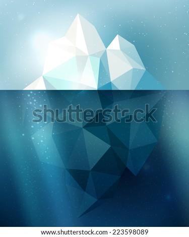 underwater iceberg arctic snow