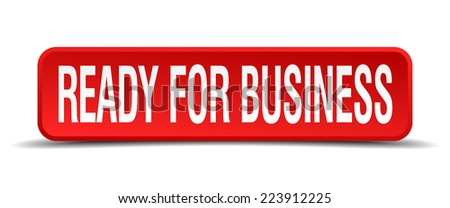 ready for business red 3d