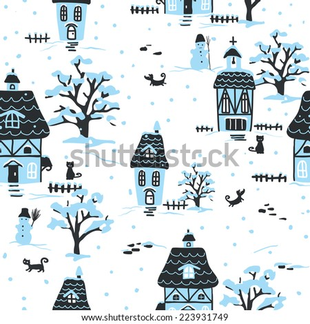christmas pattern winter