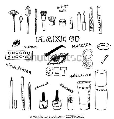 doodle make up set eps 8