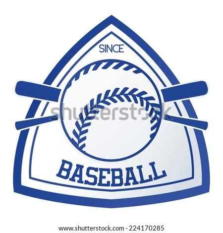 an isolated baseball emblem on