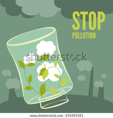 vector plants clean the air
